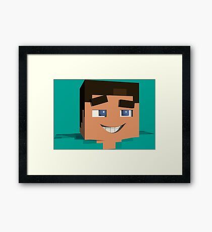 Minecraft Game Framed Print