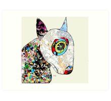 bull terrier modern  Art Print