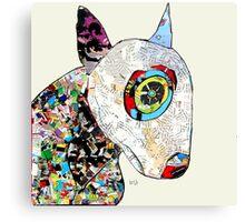 bull terrier modern  Canvas Print