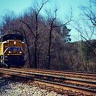 Approaching Train by Scott Mitchell
