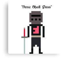 8-Bit Villains - Black Knight (Monty Python) Canvas Print