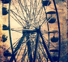 Vintage Ferris Wheel, Fall Fair by Barbara Storey
