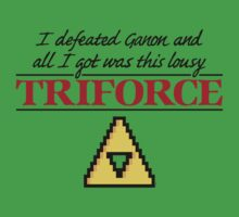 Lousy Triforce by mikehandyart
