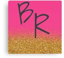 Brent Rivera initials Canvas Print