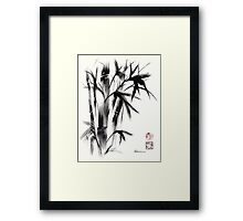 Compassion - Original Zen Spiritual Bamboo painting dedicated to the Dali Lama Framed Print