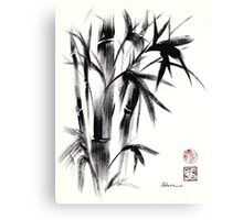 Compassion - Original Zen Spiritual Bamboo painting dedicated to the Dali Lama Canvas Print