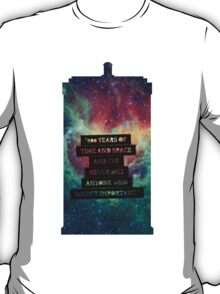 Doctor Who - 900 Years of TIme and Space... Important T-Shirt
