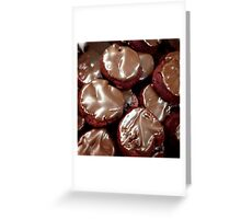 Chocolate Red Velvet Cookies Greeting Card