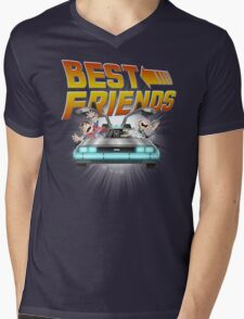 Best Friends - Back To The Future Mens V-Neck T-Shirt