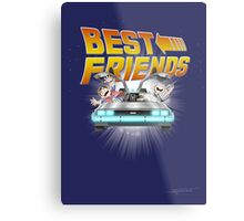 Best Friends - Back To The Future Metal Print