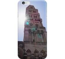 Sun flare through the buildings iPhone Case/Skin