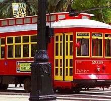 New Orleans Trolley by Frank Romeo
