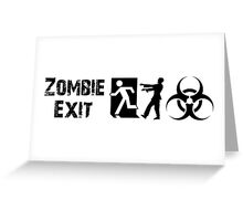 ZOMBIE EXIT SIGN by Zombie Ghetto Greeting Card