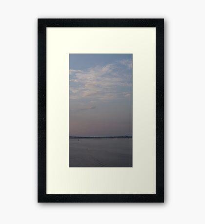 Sky, Land, Sea Framed Print
