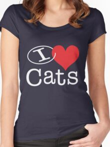 I <3 Cats Women's Fitted Scoop T-Shirt