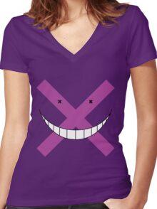 Kuro Sensei- Incorrect! Women's Fitted V-Neck T-Shirt