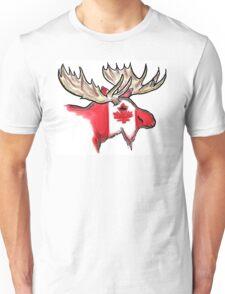 Artistic Canadian flag moose head Unisex T-Shirt