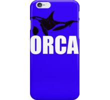 Orca (White Text) iPhone Case/Skin