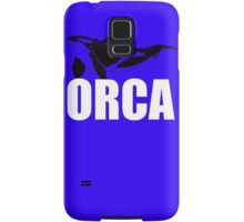 Orca (White Text) Samsung Galaxy Case/Skin