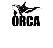 Orca (Black Text) Photographic Print