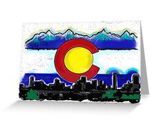 Artistic Denver Colorado skyline design Greeting Card