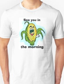 Funny bathroom humor corn drawing T-Shirt