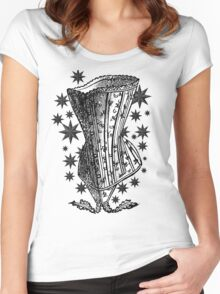 Starry Night Corset Tee Women's Fitted Scoop T-Shirt