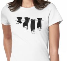 Corsets in a line tee Womens Fitted T-Shirt