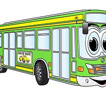 Green City Bus Cartoon by Graphxpro
