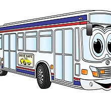 White City Bus Cartoon by Graphxpro