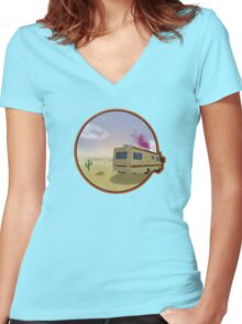 Desert Cook Out Women's Fitted V-Neck T-Shirt