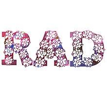RAD FLOWERS Photographic Print