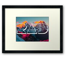 RAD MOUNTAINS Framed Print
