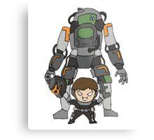 Robot Chibi Metal Print