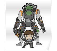 Robot Chibi Poster