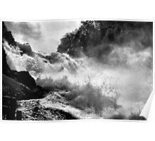 Rhine Falls Schaffhausen BW Poster
