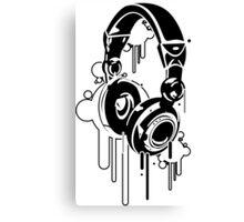 Grunge Headphones  Canvas Print