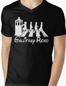 Doctor Who Gallifrey Road Mens V-Neck T-Shirt