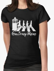 Doctor Who Gallifrey Road Womens Fitted T-Shirt