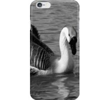 CHINESE SWAN GOOSE IN GREY SCALE iPhone Case/Skin