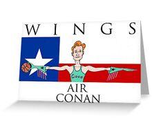 Wings: Air Conan Greeting Card