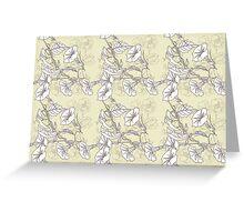 Seamless pattern with pansies and bindweed Greeting Card