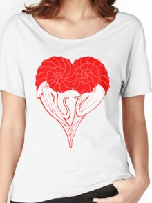 Ammonite Amore (Red) Women's Relaxed Fit T-Shirt