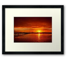 """Tangerine Dawn"" Framed Print"