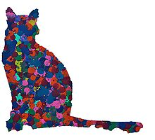 Colorful Cat by Claire McDonald