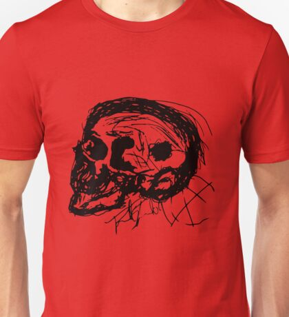 Scull Profile in Black Unisex T-Shirt