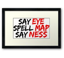 Eye Map Ness Framed Print