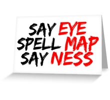 Eye Map Ness Greeting Card