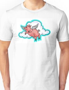 Cartoon flying pig drawing Unisex T-Shirt