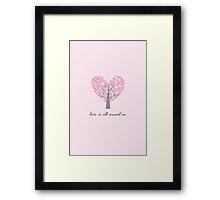 Love Tree Framed Print